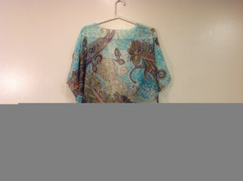 MAD fashion New Ms. Kimono Cover Up Top Blouse, one size fit all, Blue or Green image 12