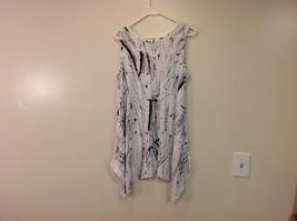 MAD New Sleeveless Summer Splatter Short Dress, Black or White image 12