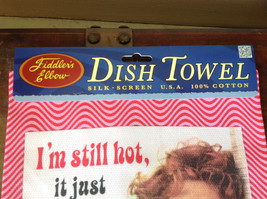 I'm Still Hot It Just Comes in Flashes Now 50s Woman Dish Towel image 3