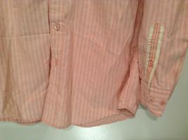 Indigo Palms Denim Company Long Sleeve Pink with Stripe Pattern Size M Shirt image 2