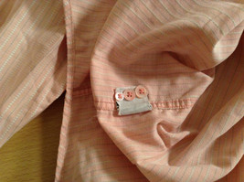 Indigo Palms Denim Company Long Sleeve Pink with Stripe Pattern Size M Shirt image 10