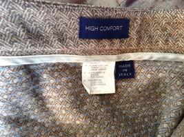Incotex Light Brown Dress Pants Zipper Button Front Closure Size 50 Wool Blend image 9