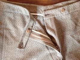 Incotex Light Brown Dress Pants Zipper Button Front Closure Size 50 Wool Blend image 7