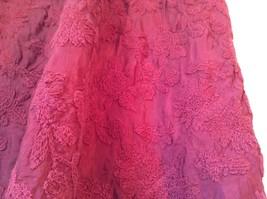 Maroon Floral Skirt Size Medium with Adjustable Waist image 2
