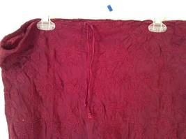 Maroon Floral Skirt Size Medium with Adjustable Waist image 3