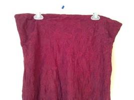 Maroon Floral Skirt Size Medium with Adjustable Waist image 4