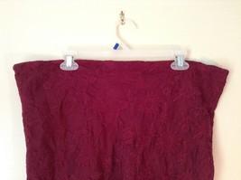 Maroon Floral Skirt Size Medium with Adjustable Waist image 5