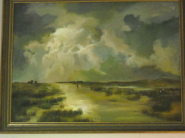 Marsh Landscape Oil Painting by Waltch image 3