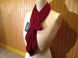 Maroon Fashion Scarf by Magic Scarf Company Angular Ends TAG ATTACHED image 2