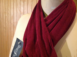 Maroon Fashion Scarf by Magic Scarf Company Angular Ends TAG ATTACHED image 4