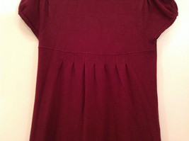 Maroon Planet Gold Short Sleeve Turtleneck Sweater Top Pretty Sleeves Size Large image 4