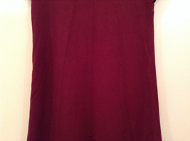 Maroon Planet Gold Short Sleeve Turtleneck Sweater Top Pretty Sleeves Size Large image 7