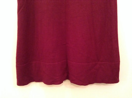Maroon Planet Gold Short Sleeve Turtleneck Sweater Top Pretty Sleeves Size Large image 8