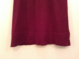 Maroon Planet Gold Short Sleeve Turtleneck Sweater Top Pretty Sleeves Size Large image 5