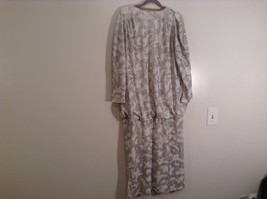 Martinique Fashion Long Sleeve White Silver Sequence Fancy Dress No Size Tag image 5