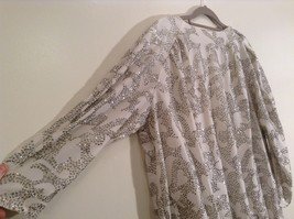 Martinique Fashion Long Sleeve White Silver Sequence Fancy Dress No Size Tag image 6