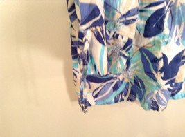 J M Collection Blue Floral Linen Button Up Blouse Size 22W image 5