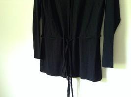 J L Studio Black Cardigan Two Piece Black Belt Long Sleeve Measurements Below image 3