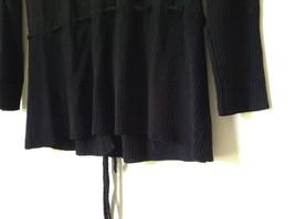 J L Studio Black Cardigan Two Piece Black Belt Long Sleeve Measurements Below image 9