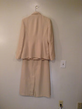J G Hook Jacket and Skirt Set Size 8 Cream Fully Lined 100 Percent Polyester image 2