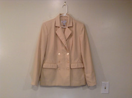 J G Hook Jacket and Skirt Set Size 8 Cream Fully Lined 100 Percent Polyester image 3