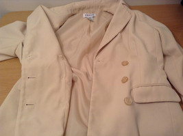 J G Hook Jacket and Skirt Set Size 8 Cream Fully Lined 100 Percent Polyester image 9