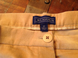 J McLaughlin Size 12 Light Brown Corduroy Pants Made in USA Good Condition image 7