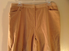 J McLaughlin Size 12 Light Brown Corduroy Pants Made in USA Good Condition image 2