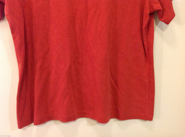 JM Woman Collection Stretch Calm Red Scoop Neck Classic T-shirt, Size 1X image 4