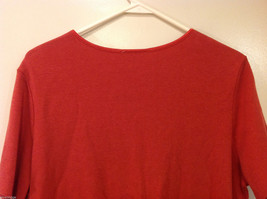 JM Woman Collection Stretch Calm Red Scoop Neck Classic T-shirt, Size 1X image 5