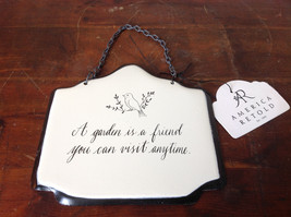 Metal Handcrafted Wall Sign A Garden is a Friend You Can Visit Anytime image 4