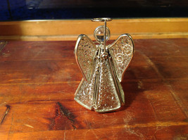 Metal and Glass Trumpet Angel Figurine Ornament Height 4 inches image 6