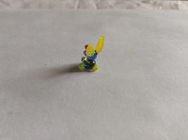 Micro Miniature hand blown glass made USA NIB blue and yellow bunny image 3