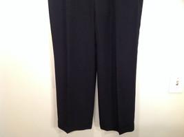 Jet Black Dress Pants Aquis Size 42 Made in France Front Button Zipper Closure image 3