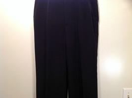 Jet Black Dress Pants Aquis Size 42 Made in France Front Button Zipper Closure image 4
