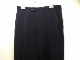 Jet Black Dress Pants Aquis Size 42 Made in France Front Button Zipper Closure image 5
