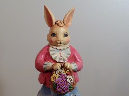 Jim Shore New Easter is Coming on the Way Bunny Rabbit Music Box Carousel NIB image 7