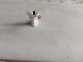 Micro Miniature hand blown glass made USA NIB white bunny w carrot image 3