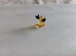 Micro Miniature hand blown glass made USA little yellow moose image 3
