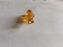 Micro Miniature hand blown glass made USA NIB yellow brown amber bear image 2