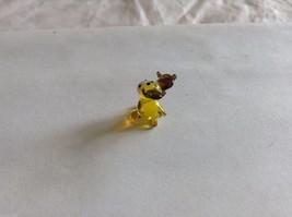 Micro Miniature hand blown glass made USA yellow moose image 3