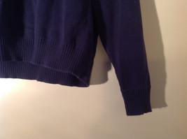 John Ashford Dark Blue with Light Blue Stripe Stretchy Sweater Stretchy Size XL image 4