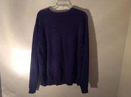 John Ashford Dark Blue with Light Blue Stripe Stretchy Sweater Stretchy Size XL image 5
