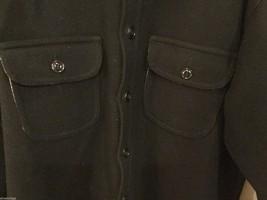 Johnson Woolen Mills Mens Black Coat Size Unknown, See Measurements image 2