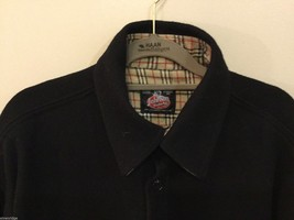 Johnson Woolen Mills Mens Black Coat Size Unknown, See Measurements image 3