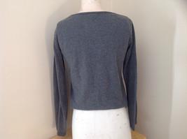 Jordache Gray V Neck Long Sleeve Shirt Made in Korea Size Large image 6