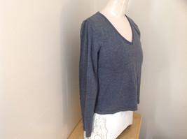 Jordache Gray V Neck Long Sleeve Shirt Made in Korea Size Large image 5