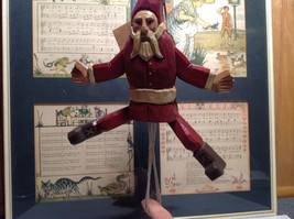 Jumping Santa String Toy Ornament Red Wooden Vintage Look image 4