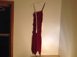 Juniors Deep Red Sequin Strap Rouched Design Formal Dress by E K Size Medium image 3