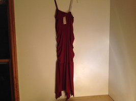 Juniors Deep Red Sequin Strap Rouched Design Formal Dress by E K Size Medium image 6